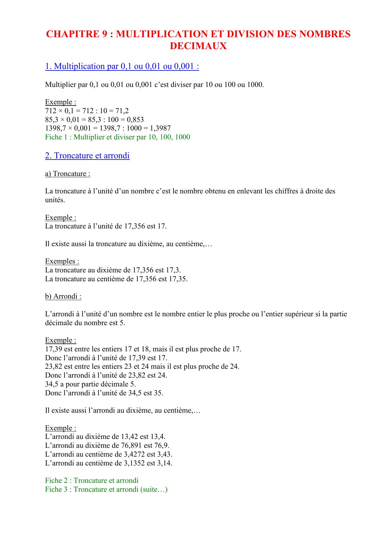 Modele Mathematique