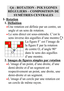 rotation - polygones réguliers – composition de symétries centrales