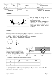 Séquence 12 sciences exercices 2nde Bac Pro - maths
