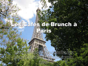 Les Cafés de Brunch à Paris