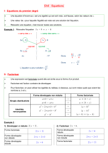 Ch5 : Equations