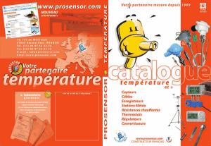 Catalogue PROSENSOR 2017 complet