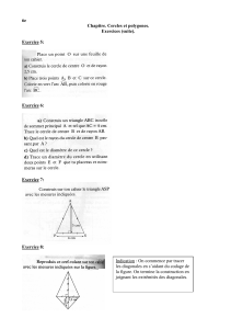 Exercices (suite) Cercles et polygones