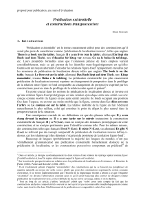Prédication existentielle et constructions transpossessives
