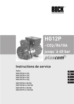 Instruction de service compresseur BOCK -HG12P