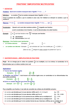 Cours Fractions-Simplification