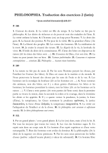 PHILOSOPHIA. Traduction des exercices 2 (latin)