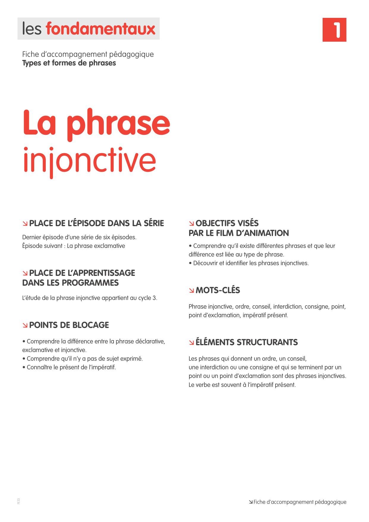 La Phrase Injonctive