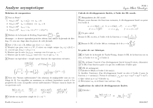 Analyse asymptotique