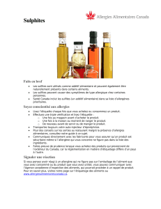 Sulfites - Food Allergy Canada