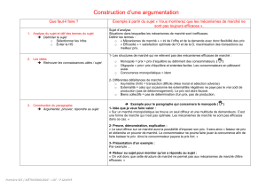 Méthodologie/correction de DS : Construction d`une argumentation