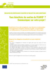 Kit de communication FEADER - L`Europe en Franche