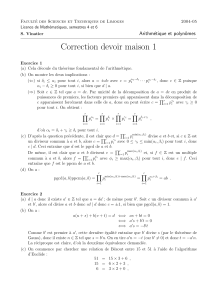 Correction devoir maison 1