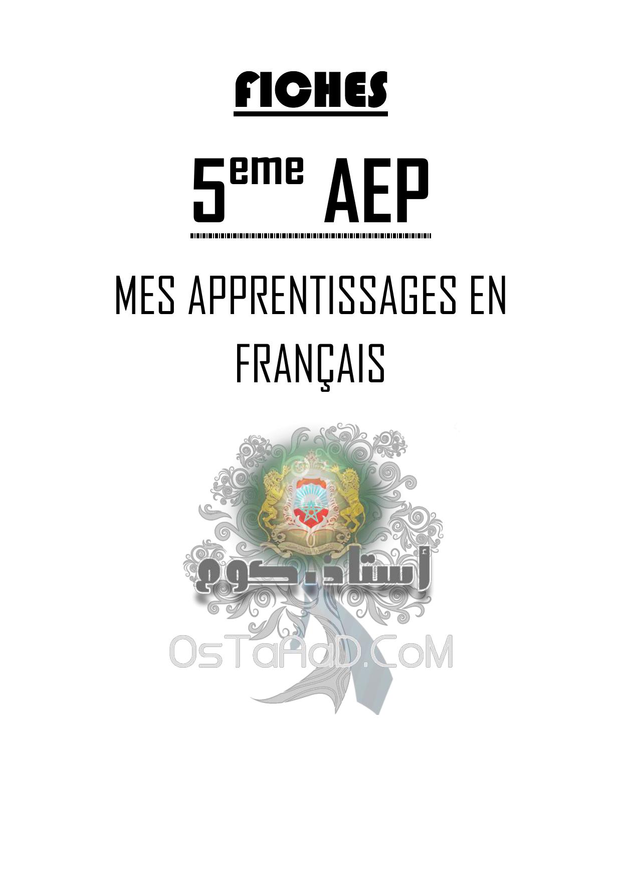Fiches Mes Apprentissages En Francais