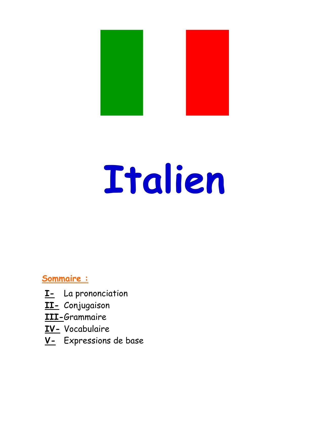 Fiche Italien