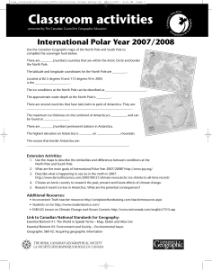 Année polaire internationale - Canadian Geographic Education