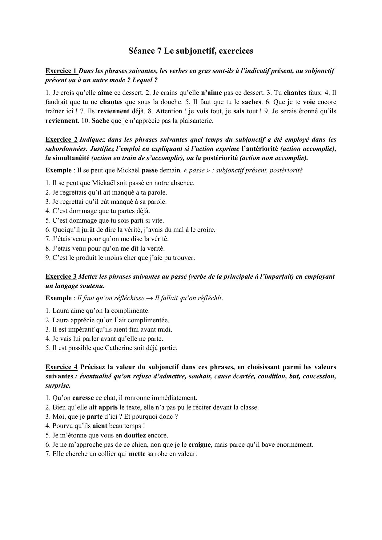 Subjonctif - ćwiczenie 7 - Francuski przy kawie