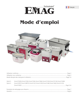 Mode d`emploi - EMAG Germany