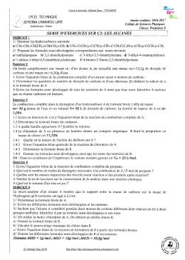 S quence 10 sciences cours 1 re bac pro tc t8 maths - Cours sciences appliquees bac pro cuisine ...
