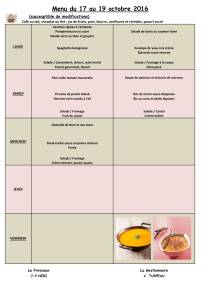 Menu du 17 au 19 octobre 2016