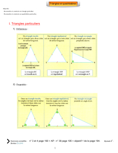 I. Triangles particuliers