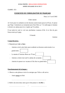 exercices de consolidation de français