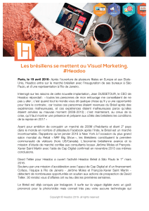 Les brésiliens se mettent au Visual Marketing, #Headoo