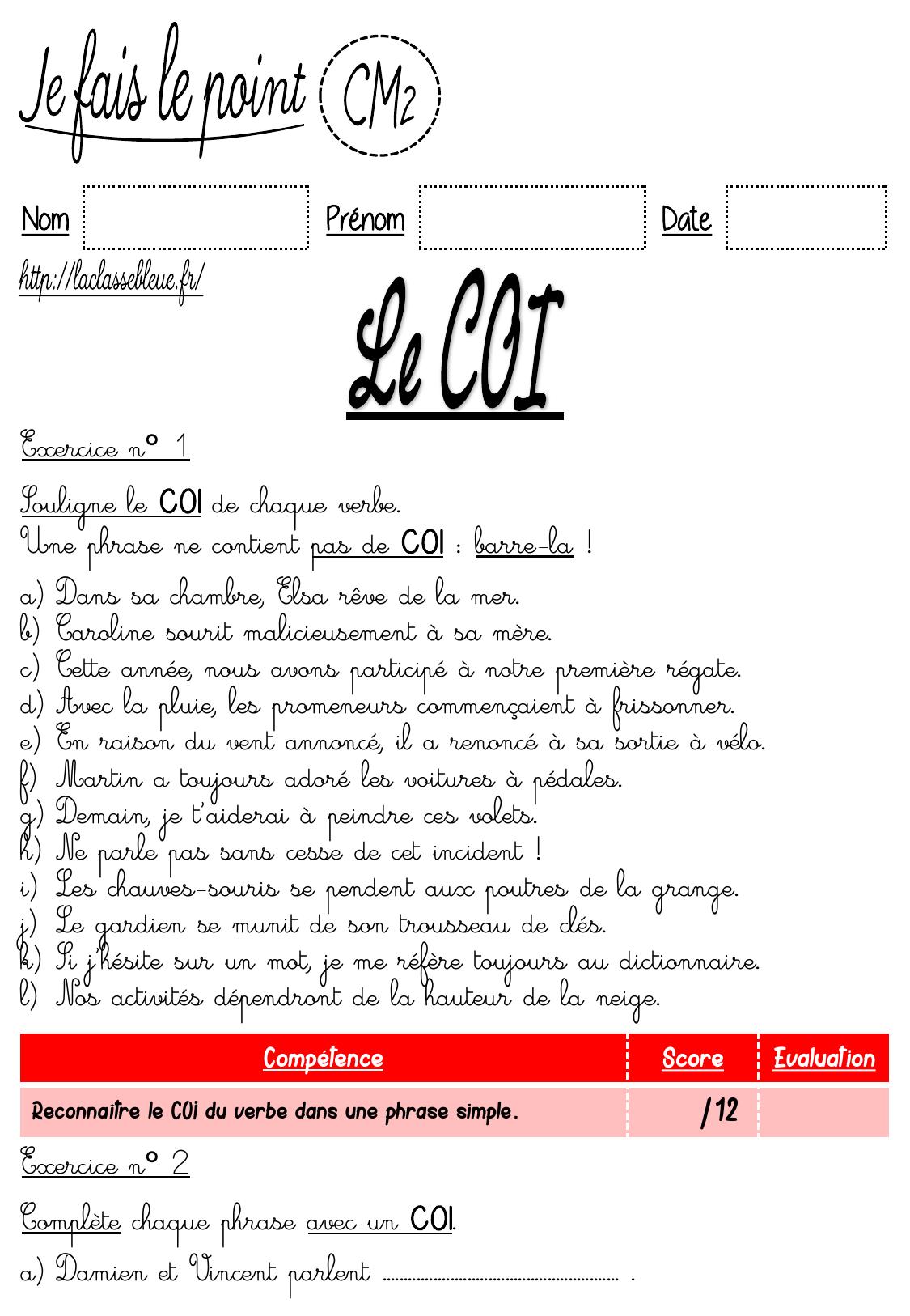 CM2 - laclassebleue