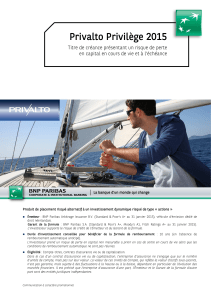 Brochure Privalto Privilège 2015 - version Generali