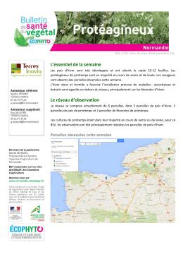 Bsv Normandie bsv protéagineux n°02 du 25 mars 2015