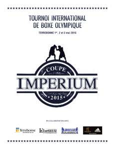 tournoi international de boxe olympique
