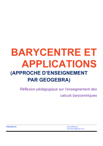 barycentre et applications - PReNuM-AC