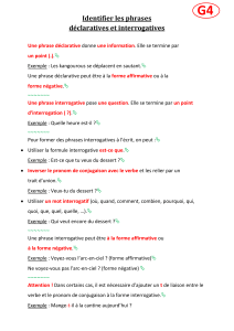 Identifier les phrases déclaratives et interrogatives