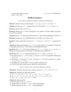 Feuille d`exercices 7
