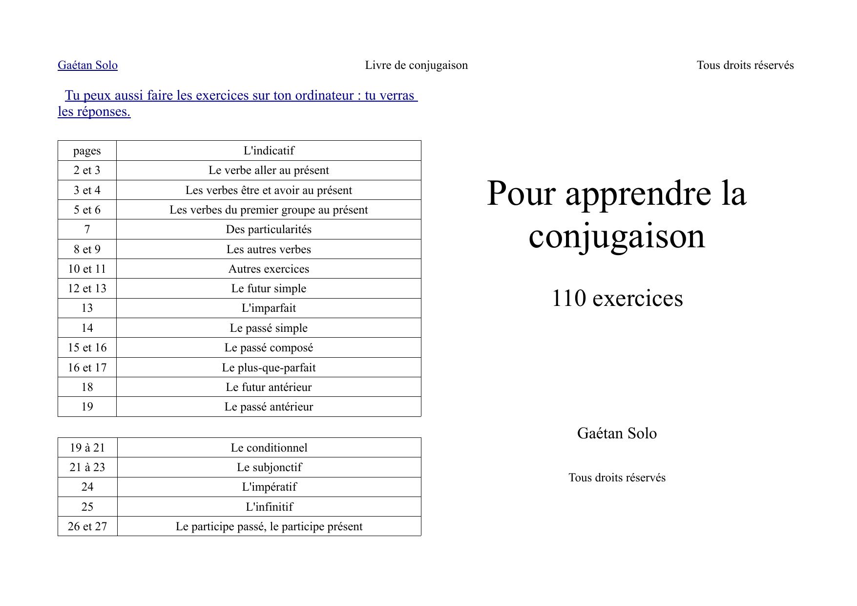Livre De Conjugaison Comite Orientation Educative