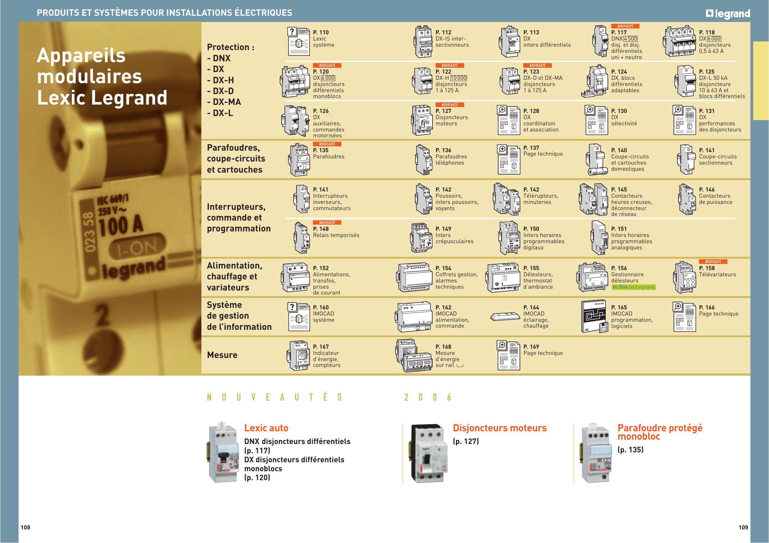Appareils Modulaires Lexic Legrand Lexic Auto
