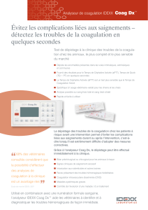 Analyseur de coagulation IDEXX Coag Dx™ : Protocole