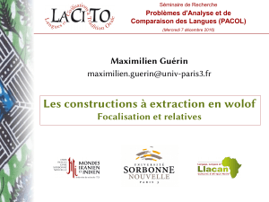 Les constructions à extraction en wolof