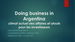 Doing business in Argentina - 21 mars 2017 - MBB