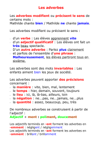 Les adverbes - Ecole de Wix