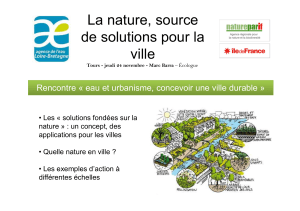 La nature, source de solutions pour la ville