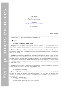 TP Perl Premiers exercices