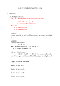 Cours PGCD