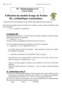 TP d`informatique (Maths) n°1