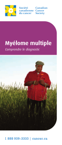 Myélome multiple : Comprendre le diagnostic