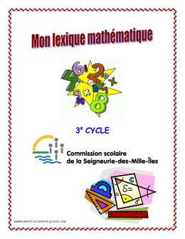 Lexique math 3e cycle