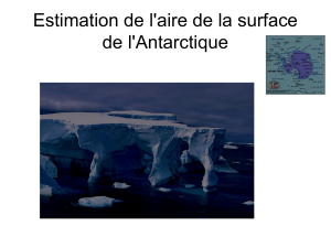Estimation de l`aire de la surface de l`Antarctique