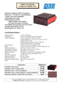 INDICATEURS DE TABLEAU SERIE 5714