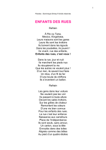 Paroles Enfants des rues