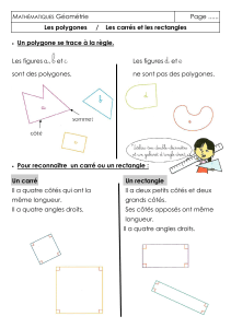 CLASSEUR OUTILS MATHS 9 Polygones Carres Rectangles